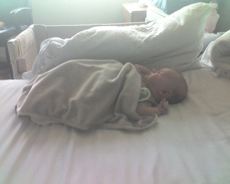 Baby Bathed in Light