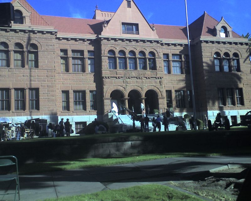Filming at the Old Courthouse