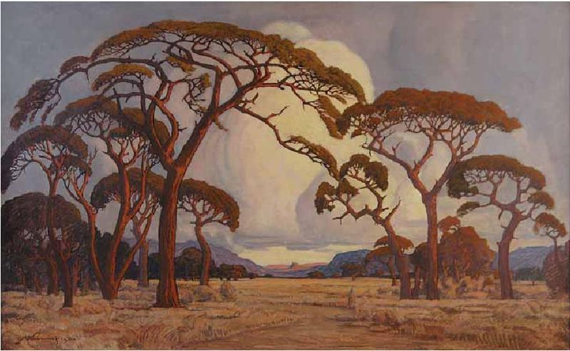 800px-Pierneef_1928_A_Summer_Afternoon,_Bushveld